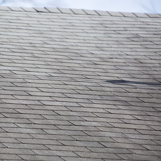 shingle roof with minimal damage
